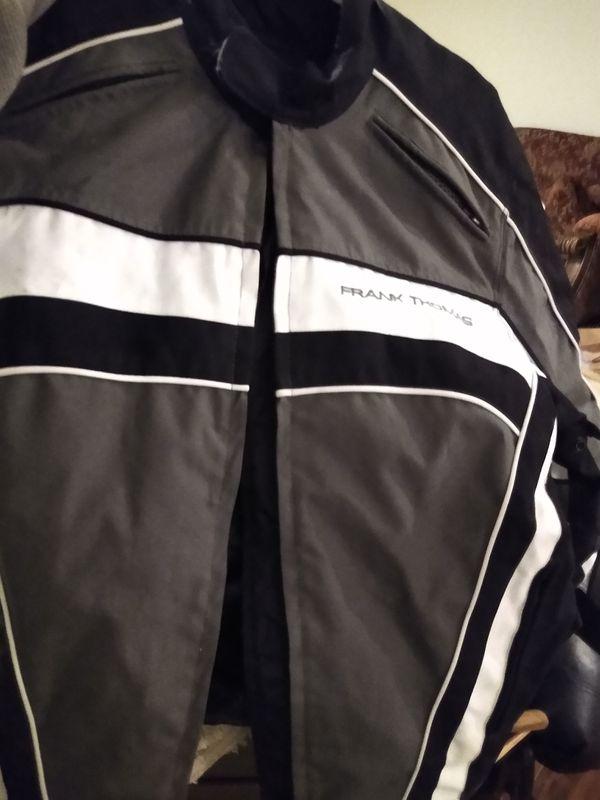 Frank Thomas Aqua pore size large motorcycle riding jacket
