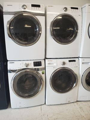 Samsung front load washer and electric dryer set's used in good condition with 90 day's warranty for Sale in Mount Rainier, MD