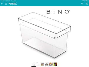 Bingo clear plastic storage bin with built in pull out handle (2 incl.) - new for Sale in Menifee, CA