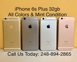 Sale: Unlocked iPhone 6s Plus 32gb Used All Colors Excellent Condition for Sale in Pleasant Ridge, MI