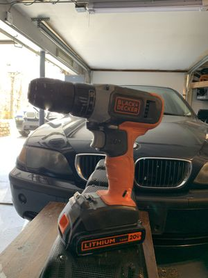 Black and decker 20v drill w/batteries and charger for Sale in East Granby, CT