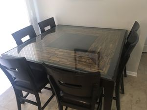 Dining Table W/ 6 High Chairs for Sale in Gahanna, OH