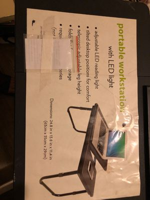 Portable workstation w/led light Black 24.8 x 13.8 x 11.4 sturdy 20.00 for Sale in Myrtle Beach, SC
