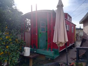 Tiny house train caboose travel trailer rv Vintage 60s circus vehicle for Sale in Bassett, CA