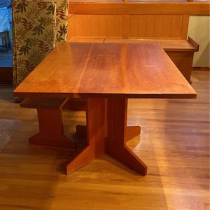 Fir Custom Made Table And Bench for Sale in Bellevue, WA