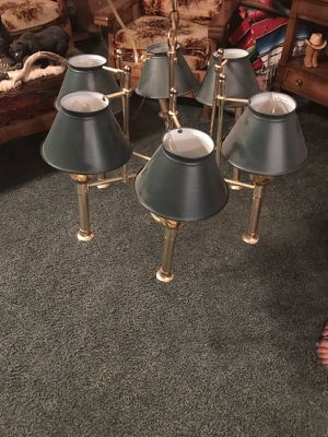 Gold plated metal chandelier for Sale in Harpers Ferry, WV