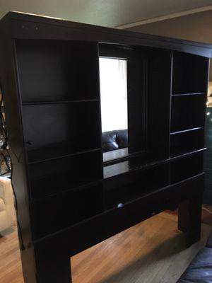 Headboard/ shelf w/mirror for Sale in Portland, OR