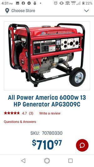 Generator 6000watt for Sale in Lock Haven, PA