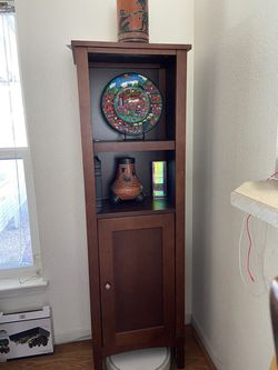 tall brown wooden hatch shelf storage for Sale in Mountain View,  CA