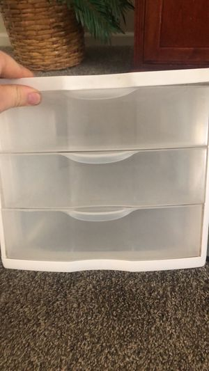 Plastic organizer bins drawers and containers for Sale in Stockton, CA