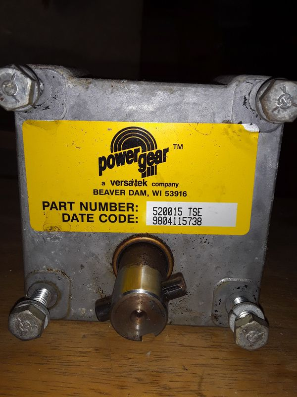 Versateck Power Gear (USED) 12 Volts DC.