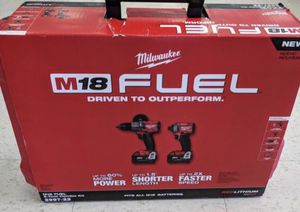 Milwaukee tools 2997-22 combo with hammer drill and impact driver . Fuel, brushless M18 for Sale in Lemont, IL