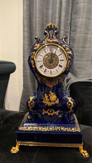 Antique gold plated clock R.Limoges for Sale in Glendale, CA
