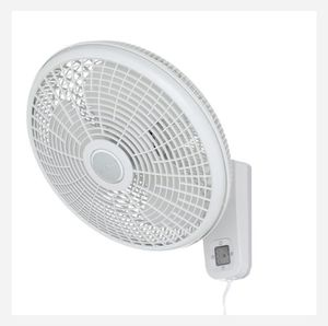 Lasko 16 in. 3-Speed Oscillating Wall Mount Fan with Remote Control for Sale in Farmers Branch, TX