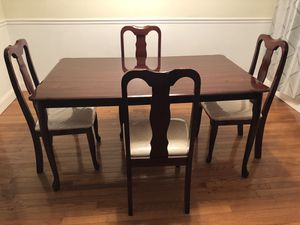 Dining table and chairs for Sale in Gaithersburg, MD