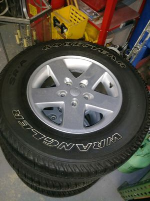 Jeep wheels and tires for Sale in Apex, NC