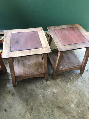 Wood end tables for Sale in Murfreesboro, TN
