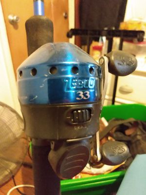 Good closed face Rod/Reel Set, Good Condition, Fishing Ready for Sale in Indianapolis, IN