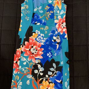 Calvin Klein Women Size 10 Sleeveless Blue Floral Sheath Office Business Dress. for Sale in Sterling, VA