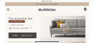 BURROW pillows and throw blanket for Sale in Philadelphia, PA