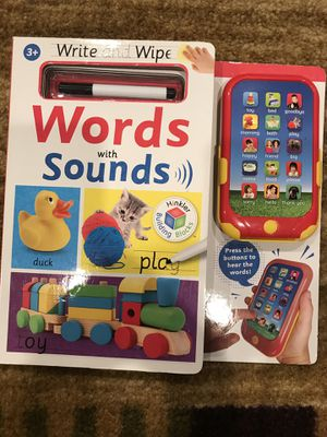 2 words with sounds books ,that work excellent and brand like new for Sale in San Jose, CA