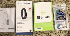 Fitbit Alta HR + bands, charger, screen protectors for Sale in Houston, TX