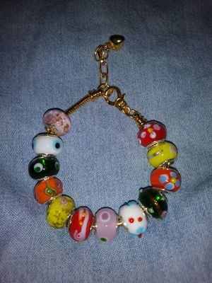 Colorful Gold Plated Charm Bracelet for Sale in Detroit, MI