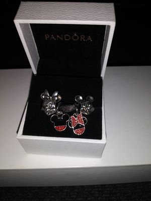 Pandora MINNIE AND MICKEY MOUSE 4 CHARM SET $100 for Sale in Dearborn, MI