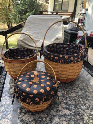 Longaberger Halloween basket set of 3 for Sale in Greenwood Village, CO