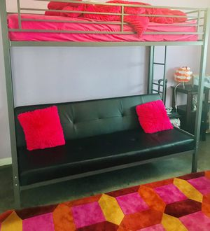 Designer bunk bed 2 full beds for with futon and mattress like new - for Sale in Miami, FL