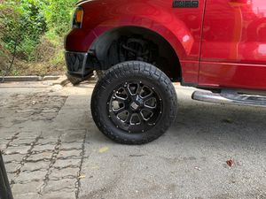 XDS rims 20x10 small curb checks/RIM and TIRES for Sale in Houston, TX