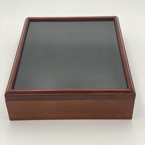 Hand Finished Wooden Collectible Box with Glass Lid for Sale in Orlando, FL