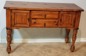 """Console table solid wood 4ft long 18"""" width 32"""" high for Sale in Queen Creek, AZ"""