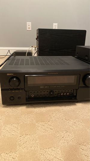 2 Denon audio receivers, Niles multi zone receiver, Polk 10 inch old sub, Sony movie player, Denon DVD player for Sale in Plymouth, MA