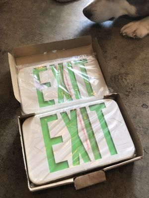 LED exit sign for Sale in Portland, OR