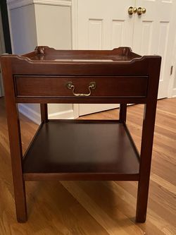 Rectangular Wooden End Table With Drawer for Sale in Raleigh,  NC