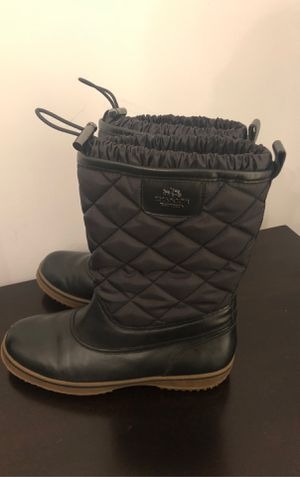 COACH Snow/Rain boots worn 2 times size 7.5 for Sale in Brentwood, TN