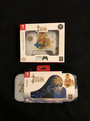 Nintendo Switch Princess Zelda Wireless Pro Controller With Case for Sale in Phoenix, AZ