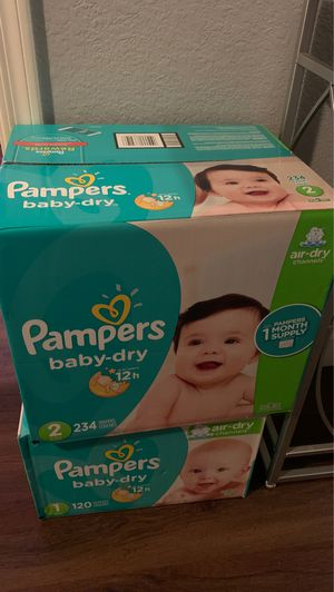 Pampers size 1 & 2 for Sale in Chandler, AZ