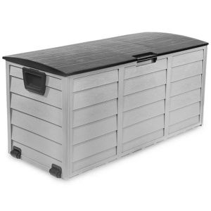 All-Weather UV Outdoor Patio Storage Deck Box in Gray and Black for Sale in Los Angeles, CA