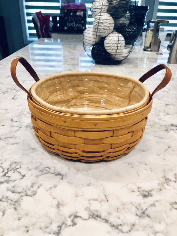 Longaberger 2001 Darning Basket Set