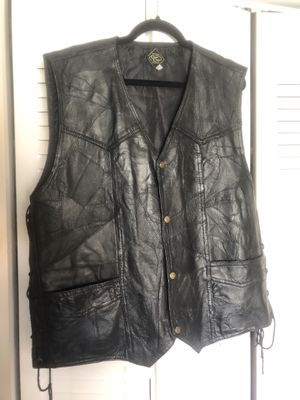 Genuine Leather Motorcycle Vest for Sale in Riverview, FL
