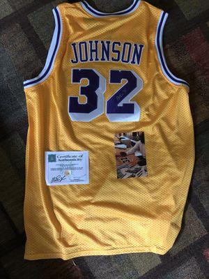 Magic Johnson Signed LA Lakers Autographed Jersey with SSG Authentication Autographed for Sale for sale  Livingston, NJ