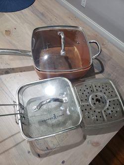 Copper chef square pot/pan for Sale in Valrico,  FL