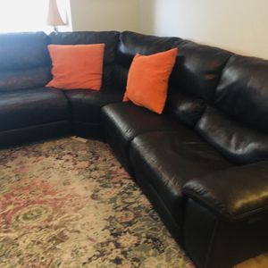 Sectional Sofa Chocolate Brown for Sale in Miami, FL