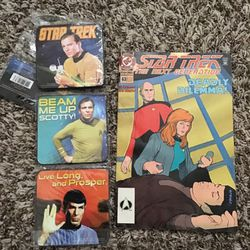Star Trek Comic And 3 Cup Coasters Missing 4th One. for Sale in San Angelo,  TX