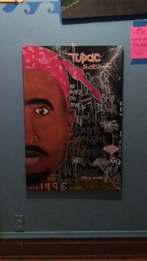 Original Tupac painting canvas for Sale in Chicago, IL
