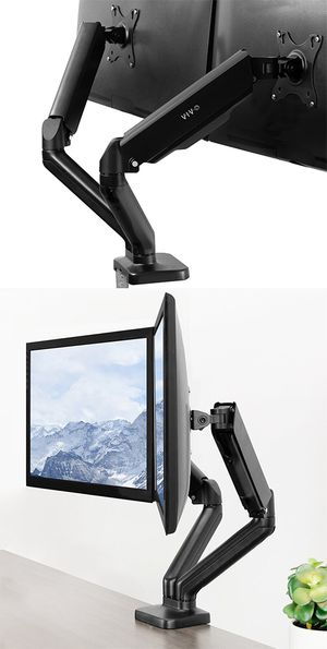 "Brand New $35 VIVO (V002O) Fully Adjustable Dual Monitor Stand, Desk Mount, Screens up to 27"" for Sale in Pico Rivera, CA"