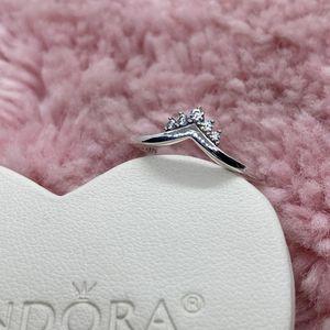 Tiara Wishbone Pandora Ring Size 52EU/6US for Sale in Waukegan, IL
