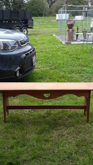 She shed/mudroom/laundry room bench. 18 in tall 4 ft long for Sale in Snohomish, WA